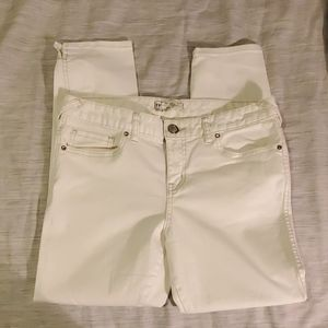 Free People White Ankle Skinny Jeans size 29